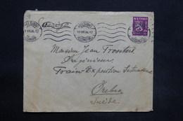 FINLANDE - Enveloppe De Helsinki Pour La Suède ( Exposition Internationale) En 1936, Affranchissement Plaisant - L 25297 - Finland