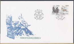 NORVEGIA NORGE - FDC 1988 - GALLO CEDRONE  ALCE - FDC