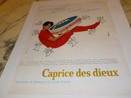 ANCIENNE  PUBLICITE CAPRICE DES DIEUX 1968 - Afiches