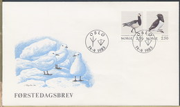 NORVEGIA NORGE - FDC 1983 - UCCELLI MARINI - FDC