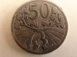 50 HALERU 1922. - Tchécoslovaquie