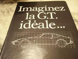 ANCIENNE  PUBLICITE IMAGINEZ LA GT IDEALE  VOITURE OPEL 1968 - Voitures