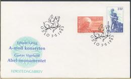 NORVEGIA NORGE - FDC 1983 - EDVARD GRIEG  GUSTAV VIGELAND - FDC