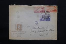 ESPAGNE - Enveloppe Philatélique De Madrid Pour Paris En 1950 , Affranchissement Plaisant Tricolore - L 25301 - 1931-50 Briefe U. Dokumente