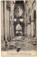 DEPT 51 : édit. G Dubois N° 7 Bis : Reims Bombardé La Cathédrale Vue D Ensemble Vers La Grande Rose Guerre De 1914-1917 - Reims