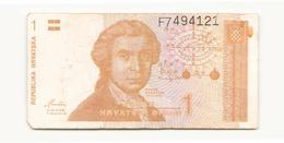 Croatie 1991 Billet De 1 Dinar - Slovénie