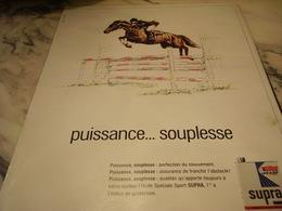 ANCIENNE PUBLICITE PUISSANCE SOUPLESSE HUILE SUPRA SPORT 1968 - Transports