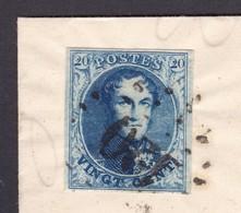 N° 7 Margé : POINTS DE TOURNAI / Lettre En  POSTE RESTANTE Vers  ST GHISLAIN 11 Mai 1853  ( Lac ) - 1851-1857 Medaillons (6/8)