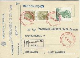 Italy - Registered Card Sent To Denmark 1980.  # 06542 - Italy