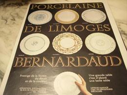 ANCIENNE PUBLICITE PORCELAINE DE LIMOGES BERNARDAUD  1969 - Affiches