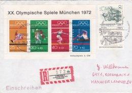 Germany Cover 1972 München Olympic Games - Reg. Label 8 München 2 Olympische Spiele 1972 - Summer 1972: Munich