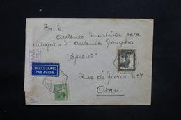 ESPAGNE - Enveloppe De Alicante Pour Oran En 1937 Avec Contrôle Postal Militaire - L 25304 - Republikanische Zensur