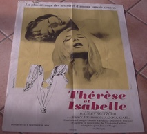 AFFICHE CINEMA ORIGINALE FILM Thérèse Et Isabelle EROTISME Radley METZGER Essy PERSSON Anna GAEL 1969 FERRACCI - Affiches & Posters