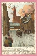 67 - STRASSBURG - STRASBOURG - Série Hiver - Goldgiessen - Künztlerpostkarte Ottmar ZIEHER - MÜNCHEN - N° 2132 - Strasbourg