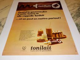 ANCIENNE PUBLICITE TONILAITAU CHOCOLAT  DE MONT BLANC 1968 - Affiches
