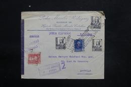 ESPAGNE - Enveloppe Commerciale De Las Palmas Pour Bruxelles En 1938 Avec Contrôle Postal Militaire - L 25306 - Republikanische Zensur