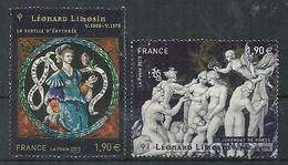 FRANCIA 2014 - YV 4928/29 - Cachet Rond - Léonard Limosin - France