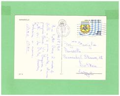 1990 ITALIA VIAGGIATA SINGOLA X LA SVIZZERA MONDIALI DI CALCIO ARGENTINA 600L. - 1981-90: Marcofilia