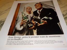 ANCIENNE PUBLICITE CA VA CHAUFFER PERRIER  1968 - Perrier