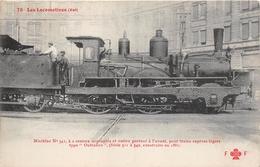 """Les Locomotives  -   La Machine N° 541 Du Réseau EST De Type """" Outrance """"  -  Cheminots  -  Chemin De Fer - Matériel"""