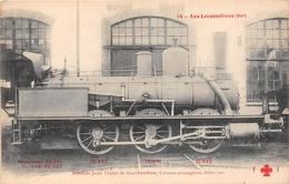 Les Locomotives  -   La Machine Pour Train De Marchandise N° 0.763 Du Réseau EST  -  Cheminots  -  Chemin De Fer - Matériel