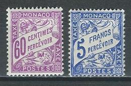 Monaco Mi P27-28 * MH - Taxe