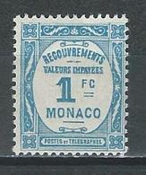 Monaco Mi P25 ** MNH - Taxe