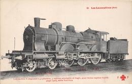 Les Locomotives  -   Locomotive Compound N° 3102 Du Réseau EST  -  Cheminots  -  Chemin De Fer - Matériel