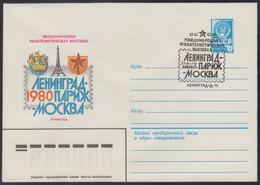 14058 RUSSIA 1980 ENTIER COVER Used 3782 LENINGRAD SPb PARIS France PHILATELIC EXHIBITION EXPOSITION Tour Eiffel USSR 44 - Expositions Philatéliques