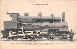 Les Locomotives  -   Machine à Grande Vitesse N° 802 Du Réseau EST  -  Cheminots  -  Chemin De Fer - Matériel