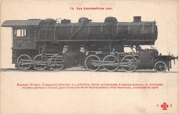 Les Locomotives  -   Machine Compound  N° 6001 Du Réseau EST  -  Cheminots  -  Chemin De Fer - Matériel