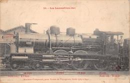 Les Locomotives  -   Machine Compound  N° 3599 Du Réseau EST  -  Cheminots  -  Chemin De Fer - Matériel