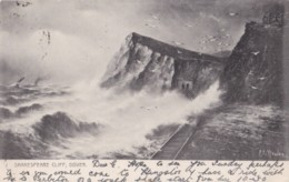 AN88 Shakespeare Cliff, Dover - Railway, Rough Sea, Gulls, Undivided Back - Dover