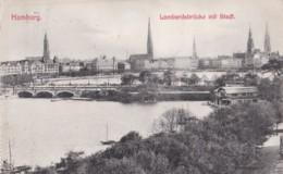 AO67 Hamburg, Lombardsbruecke Mit Stadt - 1910's - Germany