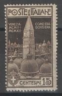 Italie - YT 94 * - 1912 - 1900-44 Victor Emmanuel III