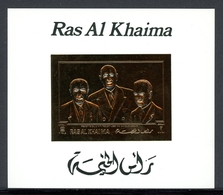 Ras Al Khaima Goldmarke MiNr. Block T 95 Postfrisch MNH Adenauer (O6215 - Ras Al-Khaima
