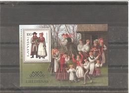 MNH Block Nr.10 In MICHEL Catalog - Lettonie