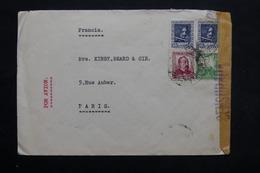 ESPAGNE - Enveloppe De Madrid Pour Paris En 1938 Avec Contrôle Postal Militaire , Affranchissement Plaisant - L 25316 - Republikanische Zensur