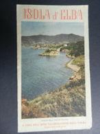 8f) ISOLA D'ELBA DEPLIANT TURISTICO SCOGLIO PAOLINA LACONA POGGIO TERME MARCIANA CON BELLA CARTA BUONE CONDIZIONI MA QUA - Dépliants Touristiques