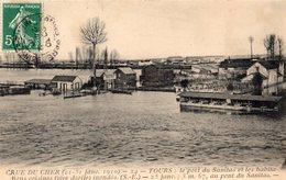 Tours Crue Du Cher Inondations Le Port Du Sanitas Bateaux-Lavoirs - Tours