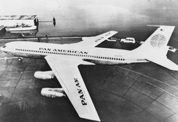 Avion - Boeing 707-120 De La Compagnie P.A.A. Pan American - Philatélie Flamme Sur L'Impressionnisme / Art Moderne - 1946-....: Ere Moderne