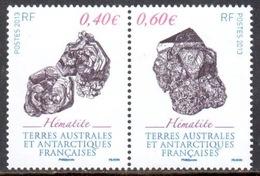 TAAF - 2013 - Diptyque Minéraux : Hématite ** - Neufs
