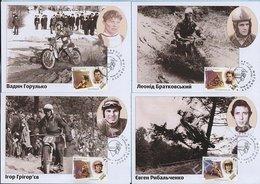 UKRAINE. Max Card. 9 Cards . FDC. Legends Of Ukrainian Motocross . Motorsport. Moto. KYIV. 2016 - Ucraina