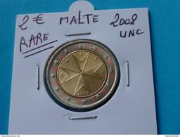 RARE ***  2 EURO MALTE 2008 Unc ( Voir Description ) - Varietà E Curiosità