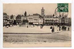 - CPA SAINT-QUENTIN (02) - La Place Et Le Beffroi 1908 (avec Personnages) - Editions Lévy N° 5 - - Saint Quentin