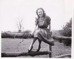 AR16 Photograph - Lady Sitting On A Fence, 1948 - Anonymous Persons