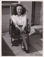 AR16 Photograph - Lady Sitting In A Garden Chair, 1948 - Anonymous Persons