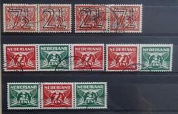NEDERLAND  1940    Nr. 356 A / 356 B / 379 A / 379 C - 379 D     Gestempeld     CW  32,00 /  NVPH 2017 - Period 1891-1948 (Wilhelmina)