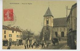 MONTESSON - Place De L'Eglise (belle Carte Toilée) - Montesson