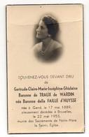 Gertrude Baronne De Traux De Wardin (Jodoigne) Née Della Faille D'Huysse °1889 Gand +1953 Bruxelles Photo Imp. Auderghem - Cartes